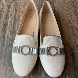 Victoria's Secret White Faux Fur Loafers